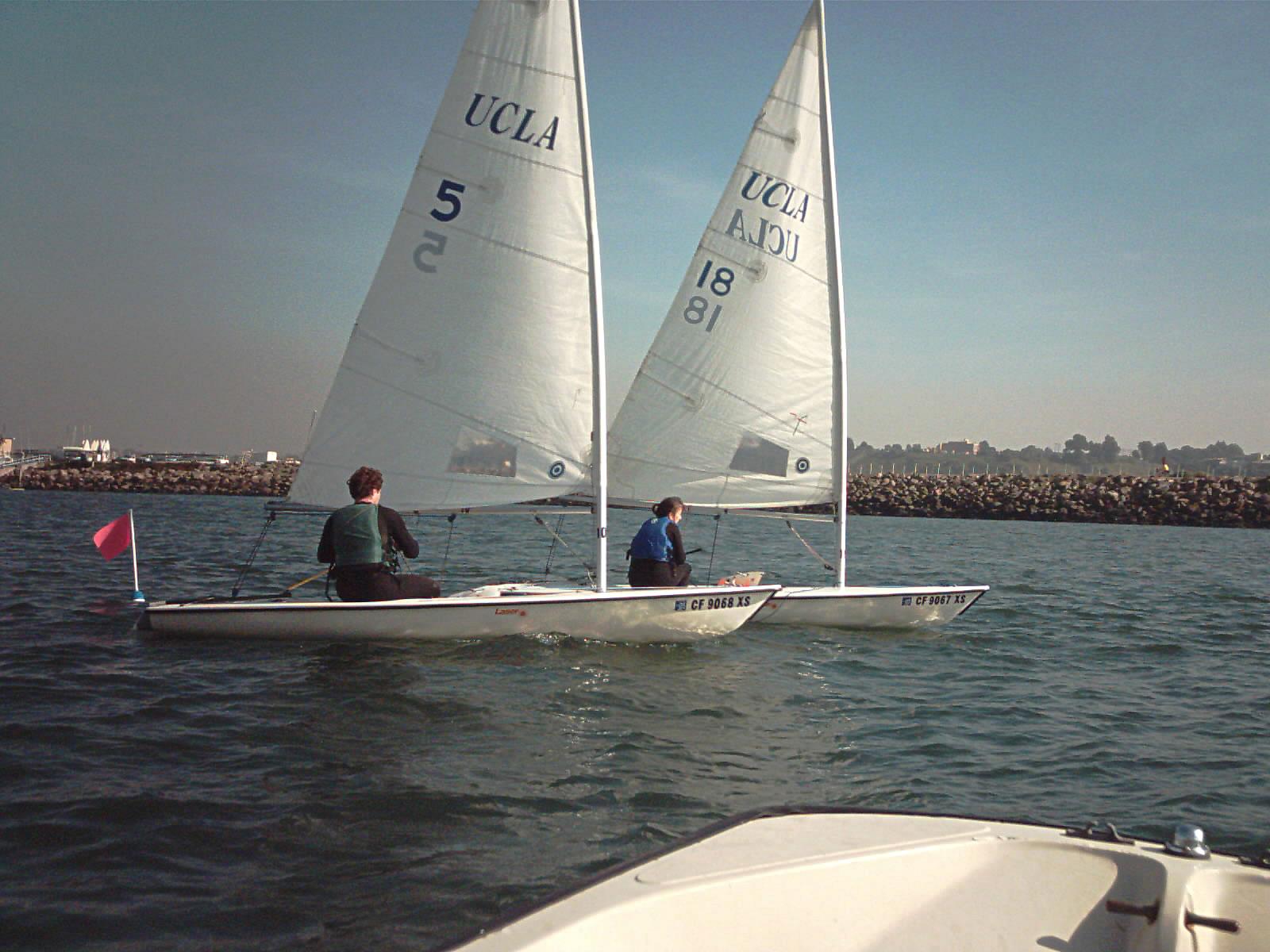laser dinghy sail area